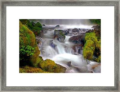 Base Of The Falls Framed Print by Marty Koch