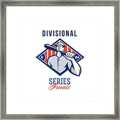 Baseball Divisional Series Finals Retro Framed Print by Aloysius Patrimonio