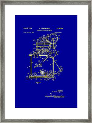 Baseball Pitching Machine Patent 1964 Framed Print by Mountain Dreams