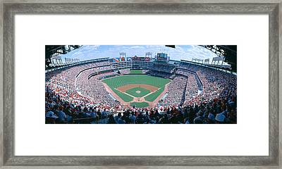 Baseball Stadium, Texas Rangers V Framed Print by Panoramic Images
