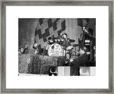 Basie Orchestra, C1941 Framed Print