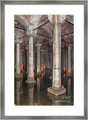 Basilica Cistern 02 Framed Print by Antony McAulay
