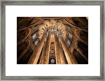 Basilica Of Santa Maria Del Mar In Barcelona Framed Print