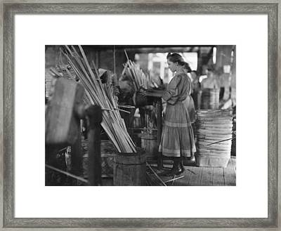 Basket Factory, 1908 Framed Print by Granger