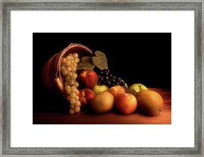 Basket Of Fruit Framed Print by Tom Mc Nemar