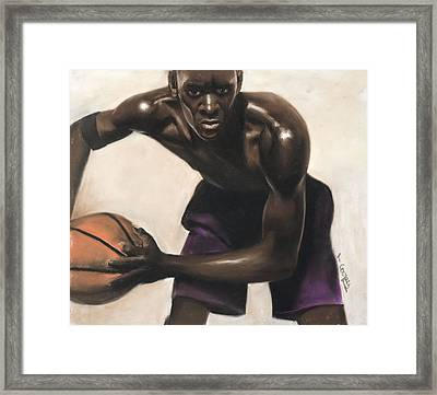 Basketball Player Framed Print by L Cooper