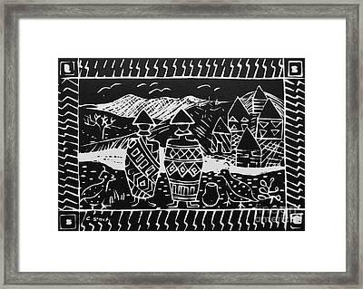 Basotho In Lesotho Framed Print by Caroline Street