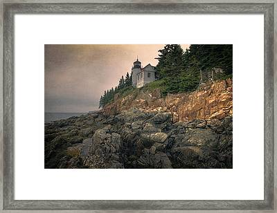 Bass Harbor Head Light II Framed Print by Joan Carroll