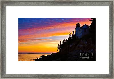 Bass Harbor Head Light.  Framed Print
