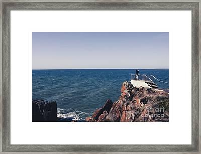 Bass Strait Ocean View From East Devonport  Framed Print by Jorgo Photography - Wall Art Gallery