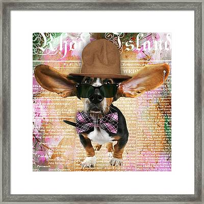 Bassett Hound Bowtie Collection Framed Print by Marvin Blaine