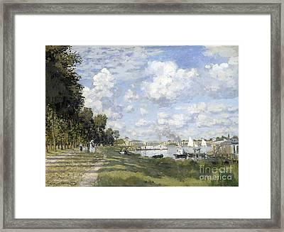 Bassin D'argenteuil Framed Print by Claude Monet