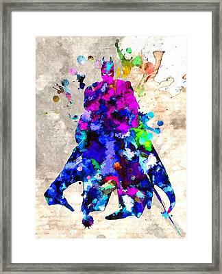 Bat Man Framed Print by Daniel Janda