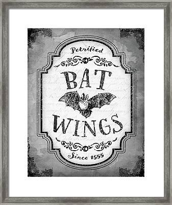 Bat Wings Framed Print