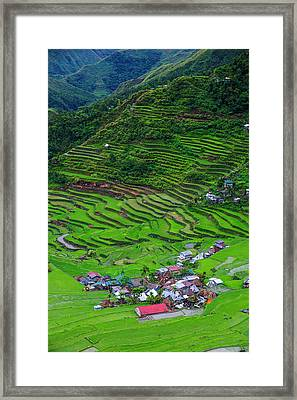 Batad Rice Terraces, Part Of The World Framed Print by Michael Runkel