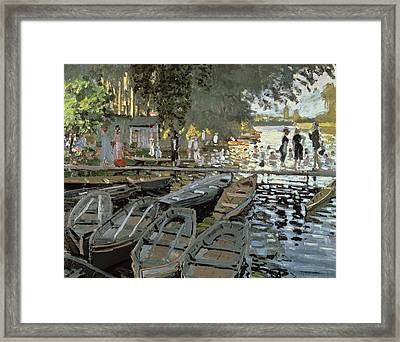 Bathers At La Grenouillere Framed Print by Claude Monet