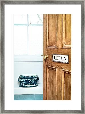 Bathroom Door Framed Print