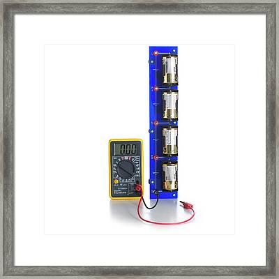 Battery Test Circuit Framed Print
