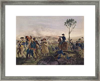 Battle Of Bennington, 1777 Framed Print by Granger