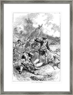 Battle Of Bunker Hill, 1775 Framed Print by Granger