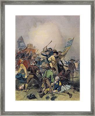 Battle Of Bunker Hill Framed Print by Granger