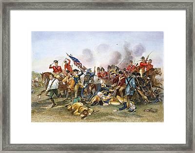Battle Of Camden, 1780 Framed Print by Granger