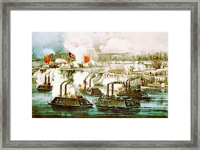 Battle Of Fort Hindman Framed Print