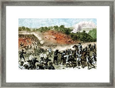 Battle Of Harlem Heights, 1776 Framed Print by Science Source