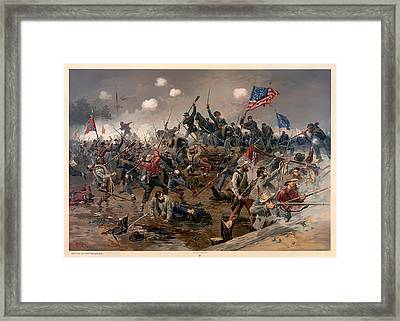 Battle Of Spottsylvania Framed Print by Mountain Dreams