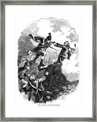 Battle Of Stony Point, 1779 Framed Print