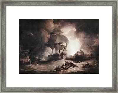 Battle Of The Nile, 1798 Framed Print by Granger