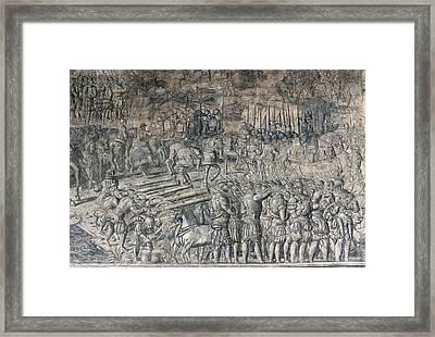 Battle Of The Saxon Wars, Emperor Framed Print by Everett