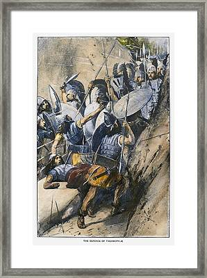 Battle Of Thermopylae Framed Print by Granger