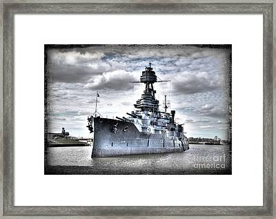 Battleship Texas Framed Print