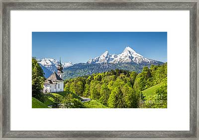 Bavarian Beauty Framed Print
