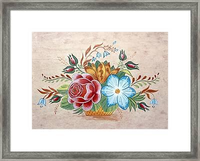 Bavarian Floral  Framed Print by Brenda Ruark