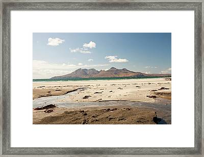 Bay Of Laig At Cleadale Framed Print by Ashley Cooper