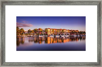 Bay Resort Naples Florida Framed Print