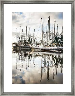 Bayou Labatre' Al Shrimp Boat Reflections Framed Print