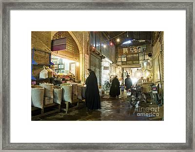 Bazaar Market In Isfahan Iran Framed Print