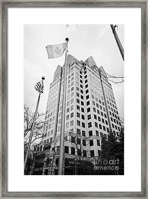 Bc Hydro Building Downtown Vancouver Canada Framed Print