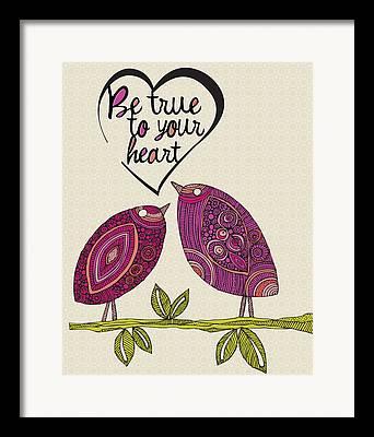 Illustration Of Love Framed Prints