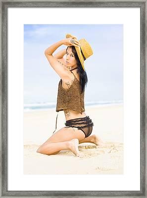 Beach Allure Framed Print by Jorgo Photography - Wall Art Gallery
