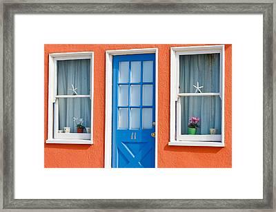 Beach Cottage Framed Print