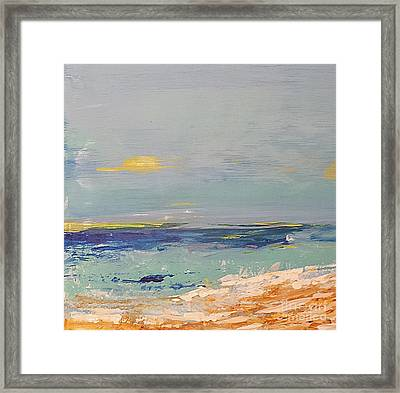 Framed Print featuring the painting Beach by Diana Bursztein