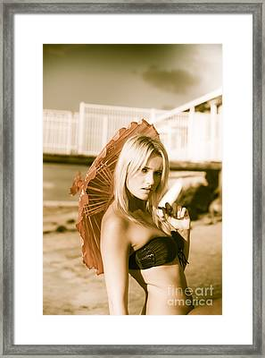Beach Enchantress Framed Print by Jorgo Photography - Wall Art Gallery