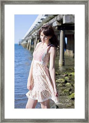 Beach Getaway Girl Framed Print by Jorgo Photography - Wall Art Gallery