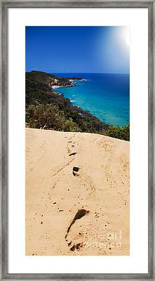 Beach Getaway Retreat Framed Print