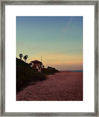 Beach Hut Framed Print by Laura Fasulo