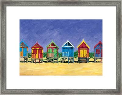Beach Huts Framed Print by Brian James